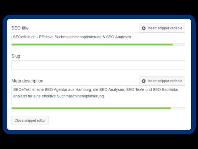 Screenshot Grafiken5 SEO Agentur SEOeffekt